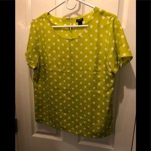 Jcrew polka dot blouse